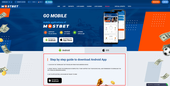 App for Android Mostbet